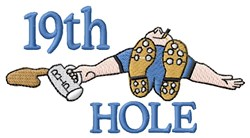 19th Hole embroidery design