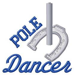 Pole Dancer embroidery design