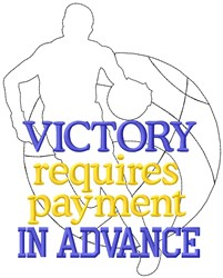 Victory Requires Payment embroidery design