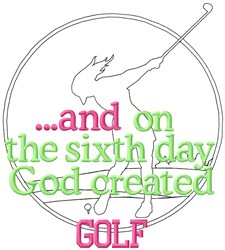 Sixth Day Womens Golf embroidery design