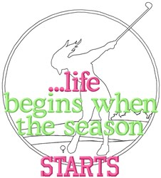 Life Begins Golf Starts embroidery design