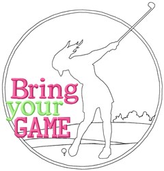 Bring Your Golf Game embroidery design