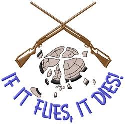 It Flies, It Dies embroidery design