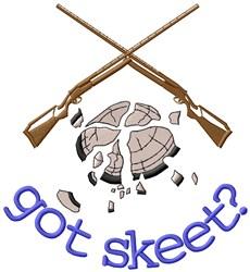 Got Skeet? embroidery design