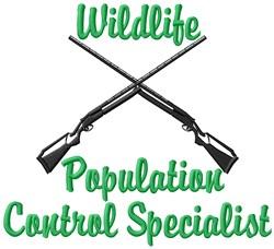 Wildlife Control Specialist embroidery design