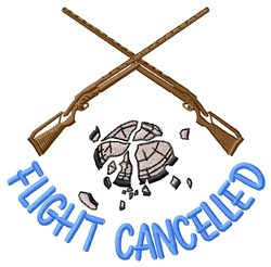 Flight Cancelled embroidery design
