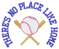 No Place Like Home embroidery design