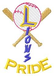 Lions Baseball Pride embroidery design