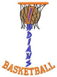 Indians Basketball embroidery design