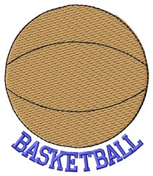 Basketball Ball embroidery design