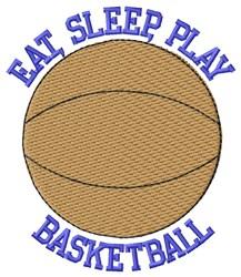 Eat Sleep Basketball embroidery design