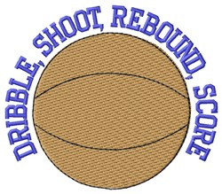 Dribble Basketball embroidery design