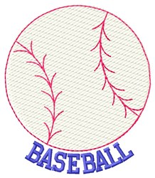 Baseball Ball embroidery design