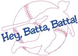 Hey Baseball embroidery design