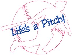 Lifes Baseball embroidery design