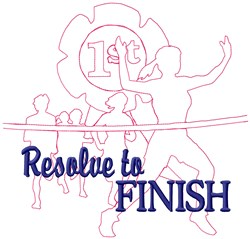 Resolve Race embroidery design