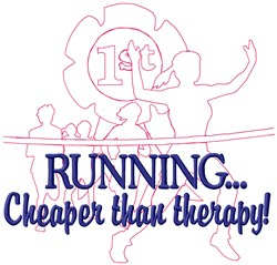 Therapy Race embroidery design
