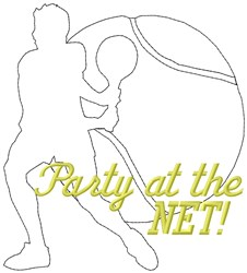 Party Tennis embroidery design