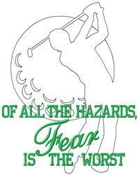 Hazards Golf embroidery design