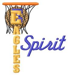 Eagles Basketball Spirit embroidery design