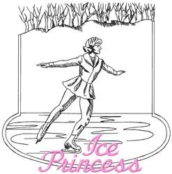 Ice Princess embroidery design