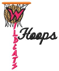 Wildcats Hoops embroidery design