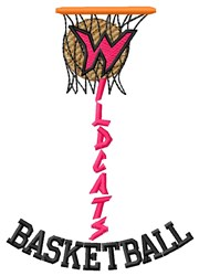Wildcats Basketball embroidery design