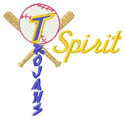 Baseball Spirit embroidery design
