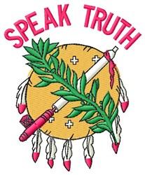Speak Truth embroidery design