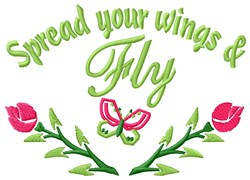 Wings Fly embroidery design