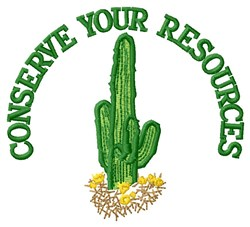 Conserve Resources embroidery design