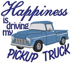 Happiness Pickup embroidery design