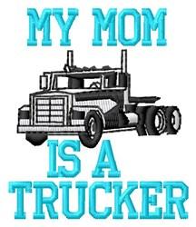 Mom Trucker embroidery design