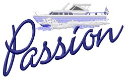 Passion Yacht embroidery design