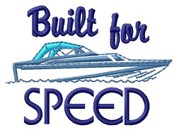 Built Speed embroidery design