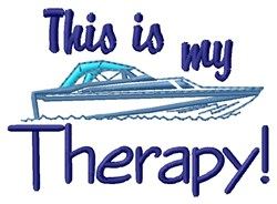 Therapy Boat embroidery design