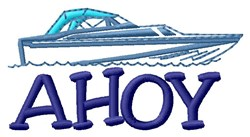Ahoy Speed Boat embroidery design