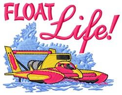 Float Life embroidery design