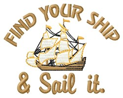 Find Ship embroidery design