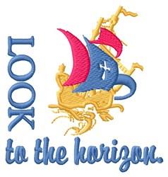Horizon Cross Ship embroidery design