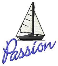 Passion Sail embroidery design