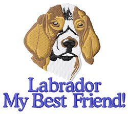Labrador My Best Friend embroidery design