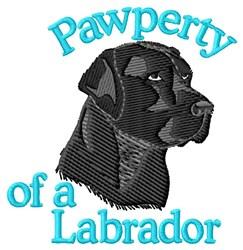 Pawperty Black Labrador embroidery design