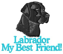 Black Labrador Best Friend embroidery design