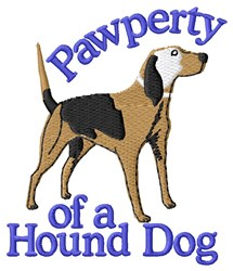 Pawperty Hound Dog embroidery design
