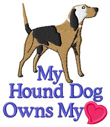 Hound Dog Love embroidery design