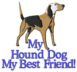 Hound Dog Best Friend embroidery design