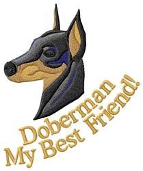 Doberman My Best Friend embroidery design