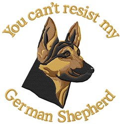 Cant Resist German Shepherd embroidery design