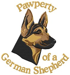Pawperty Of German Shepherd embroidery design